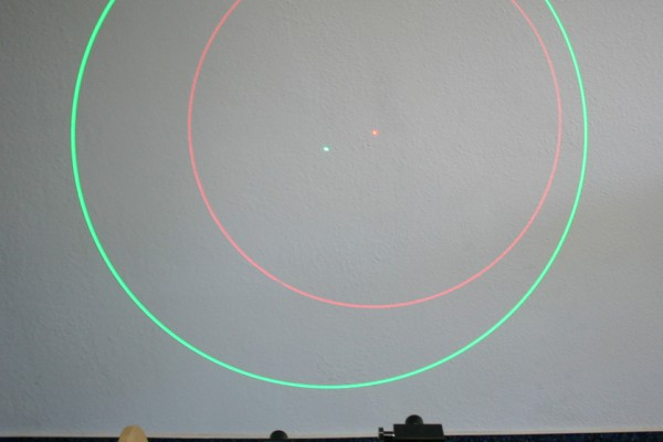 laser ZM18 z optyką koła